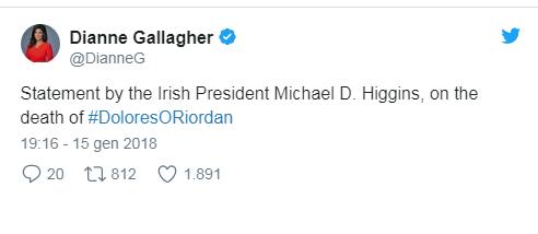 L'ultimo tweet di Dolores O'Riordan e le parole di Giuliano dei Negramaro