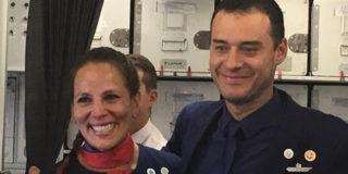 sposi in aereo