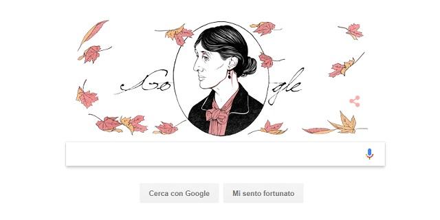 Google celebra la scrittrice Virginia Woolf, nasceva 136 anni fa