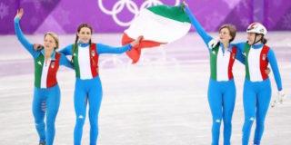 Le ragazze dello short track conquistano l'argento alle Olimpiadi invernali 2018