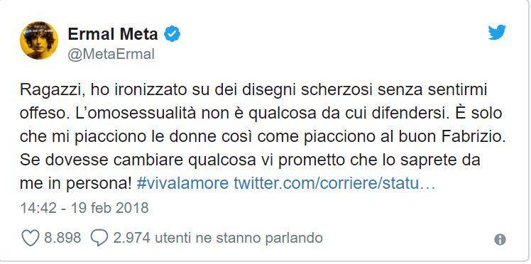 """""""Fabrizio Moro ed Ermal Meta sono gay?"""": la risposta esemplare di Ermal"""