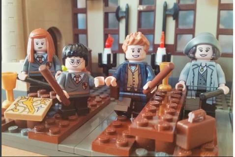 Harry Potter, la Sala Grande del castello di Hogwarts diventa Lego