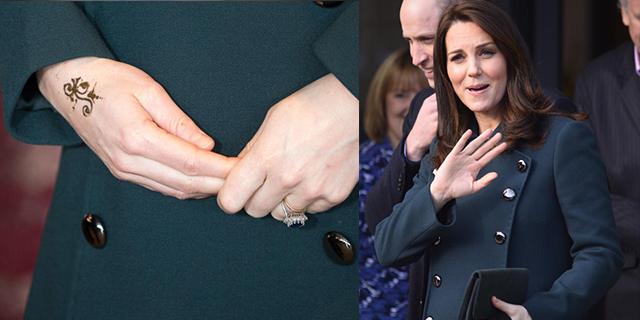 Kate Middleton: tatuaggio sulla mano, ma è solo un henné