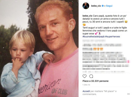 Dalla Hunziker a Bebe Vio: gli auguri social dei vip per la Festa del Papà