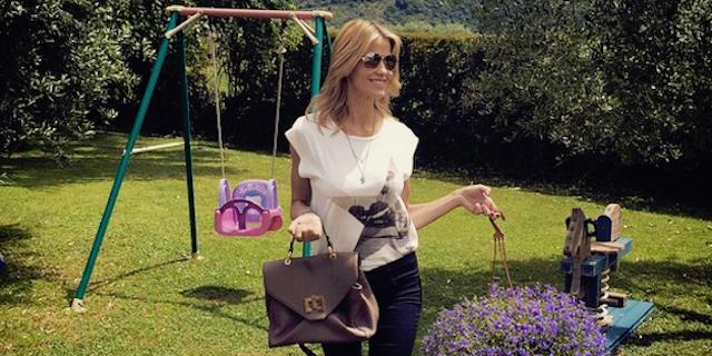 """Elena Santarelli contro una follower:""""Nessuno mi dica cosa devo fare con mio figlio"""""""