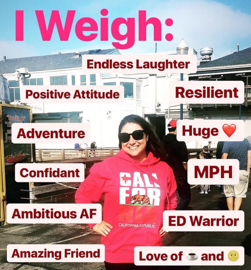 Spopola l'hashtag #Iweigh per dire no alle considerazioni sul peso femminile