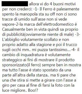 Elisa Isoardi stira la camicia su Instagram, e scoppia l'ironia
