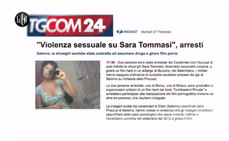 """Il rispetto necessario per Sara Tommasi: """"Ero una morta che camminava"""""""