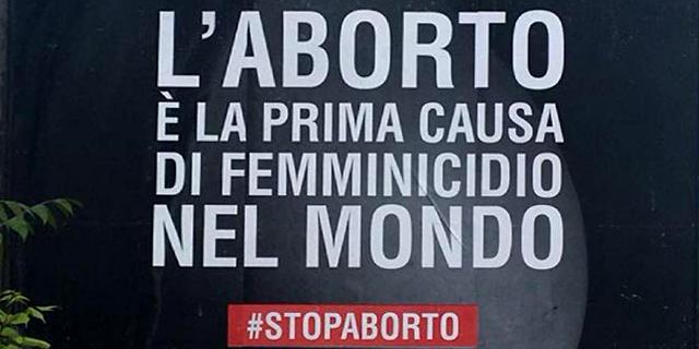 """Manifesto choc: """"L'aborto è la prima causa di femminicidio nel mondo"""""""