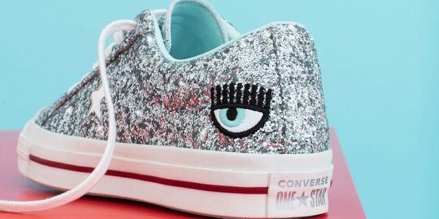 Arrivano le nuove Converse by Chiara Ferragni: glitter per la sneakers One Star