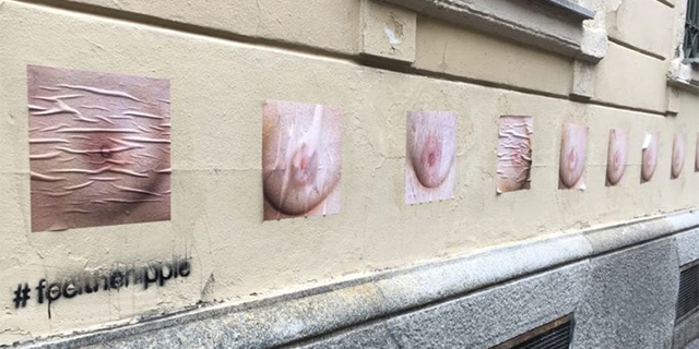Pavia invasa da foto di capezzoli: l'iniziativa di due ragazze