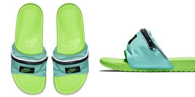 Nike lancia la ciabatta con marsupio per l'estate 2018