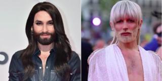 Conchita Wurst cambia look con capelli e barba biondo platino