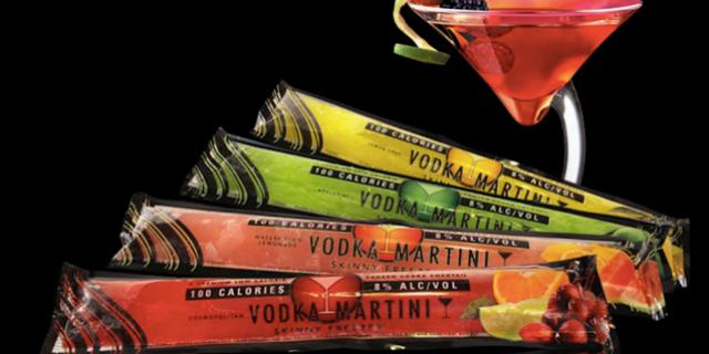 Ghiaccioli alla vodka Martini