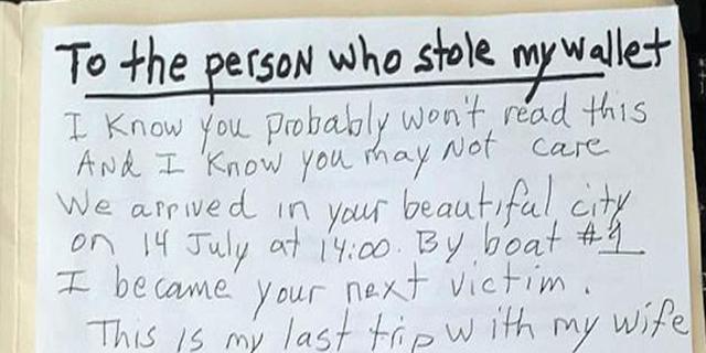 """Malato di cancro scrive a chi l'ha rapinato a Venezia: """"Sto per morire"""""""