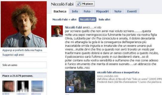 10 anni senza Lulù: il dolcissimo ricordo di Niccolò Fabi per la figlia Olivia