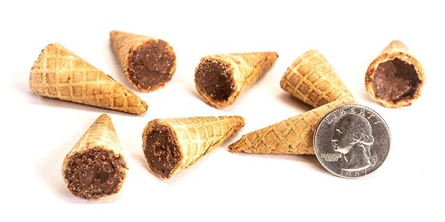 La punta del cornetto ripiena di cioccolato diventa uno snack