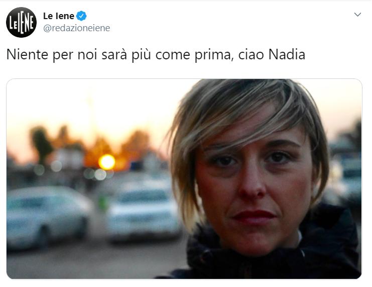 """""""Non fate i bravi"""", l'ultimo messaggio di Nadia Toffa"""