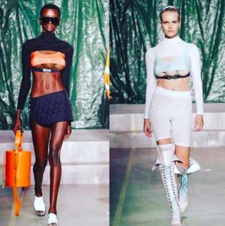 Modelle con tre seni sfilano per GCDS alla Milano Fashion Week