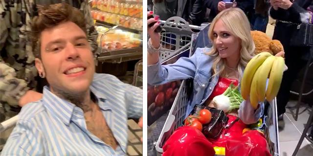 Fedez: balli con la frutta e gare con i carrelli, la festa nel supermarket indigna il web