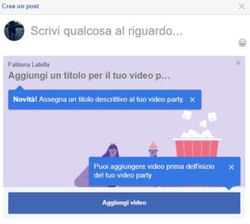 Cosa sono e come funzionano i nuovi Video Party di Facebook