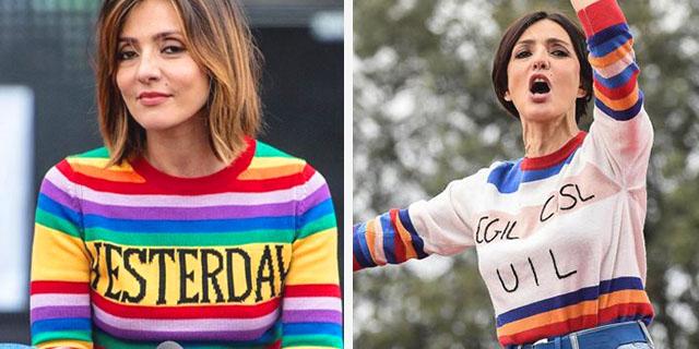 Il maglione del Primo Maggio di Ambra, dopo le polemiche dell'anno scorso