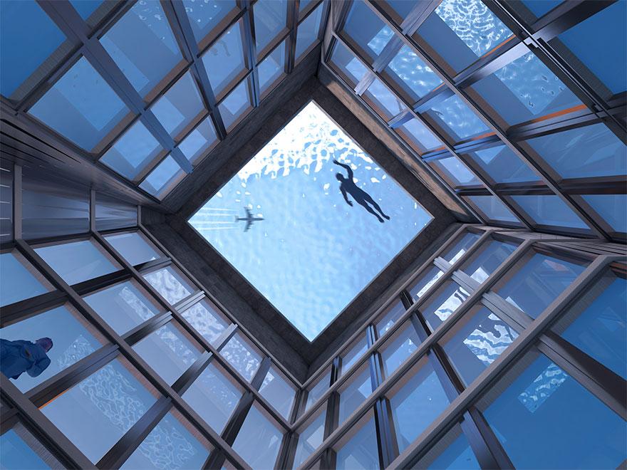 """""""Da dove si entra?"""": le risposte all'incredibile piscina a sfioro sul grattacielo"""