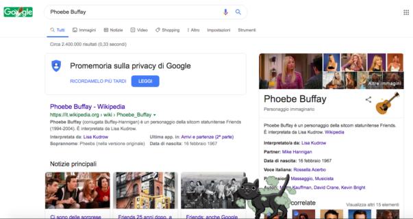 Ecco cosa succede se in questi giorni cercate i personaggi di Friends su Google