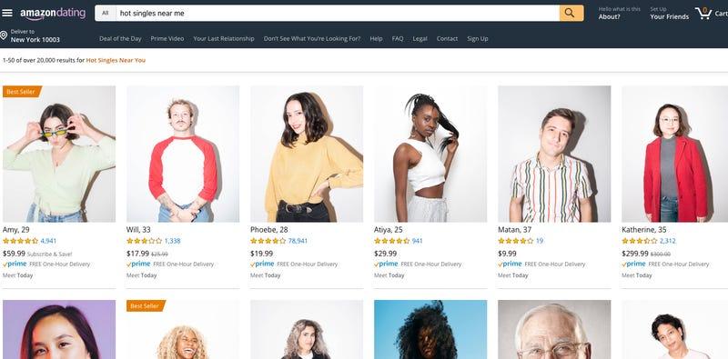"""Amazon Dating: il portale dove """"acquistare"""" il tuo fidanzato per San Valentino"""