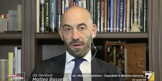 """L'infettivologo Matteo Bassetti: """"Il coronavirus sta perdendo forza"""""""
