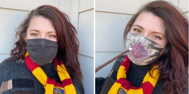 Harry Potter, la mascherina che rivela la mappa del Malandrino quando si espira
