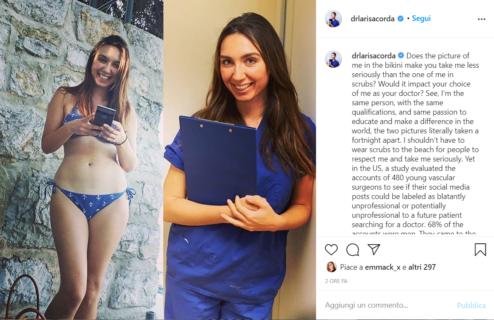"""""""Se sei una donna, medico e posti foto in costume non sei professionale?"""""""