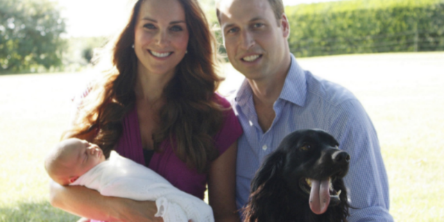 Il dolore di Kate e William nel post d'addio al cane Lupo