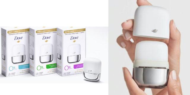 Dove ricaricabile, il deodorante ora è per sempre....