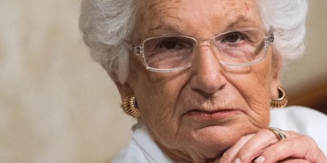 Liliana Segre e le sue parole, più forti di chi ieri le ha augurato la morte