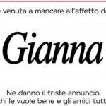 Taffo rifà il manifesto funebre di Gianna, trans rinnegata anche da morta