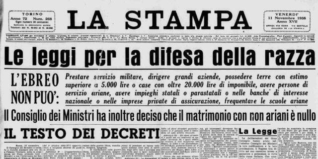 """Come successe che l'Italia divenne un Paese """"legalmente"""" razzista"""