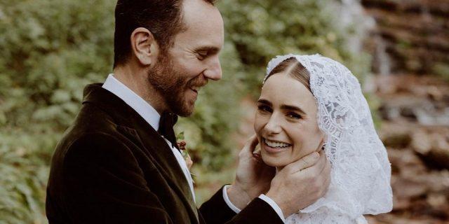 """Lily Collins ha detto """"sì"""": le nozze fiabesche con il regista Charlie McDowell"""