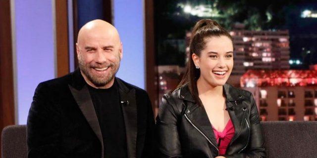 """Il dolce messaggio di Ella Travolta a John: """"Ti voglio tanto bene papà""""."""
