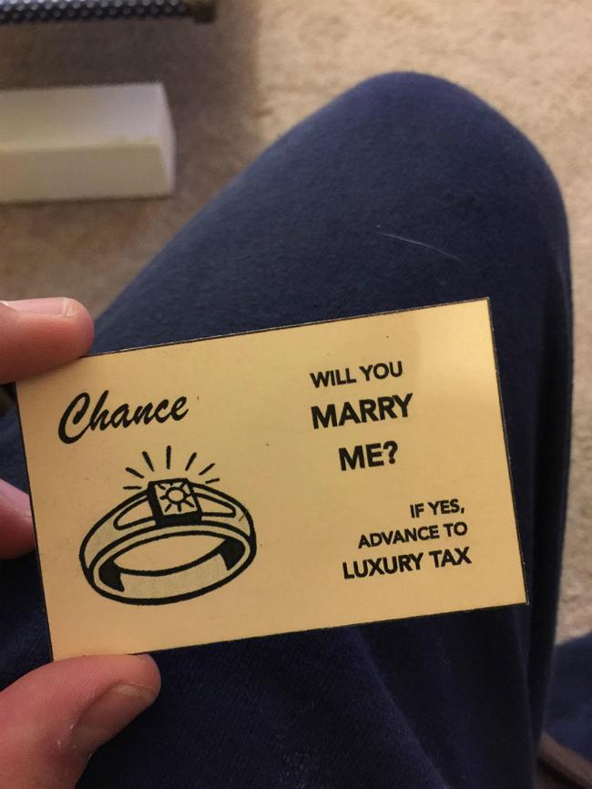 carta probabilità monopoli mi vuoi sposare