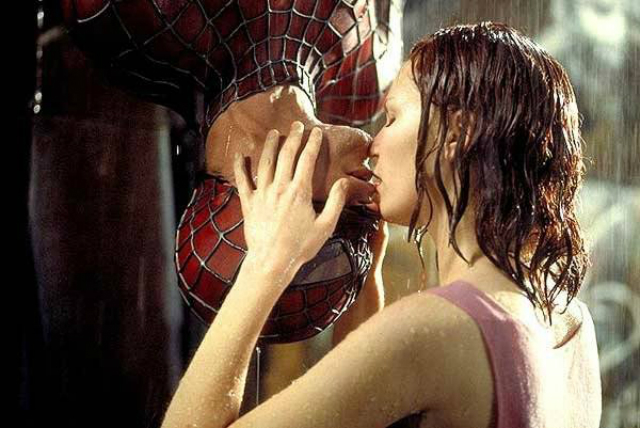 il bacio spiderman