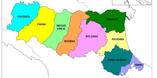 geografia emilia romagna