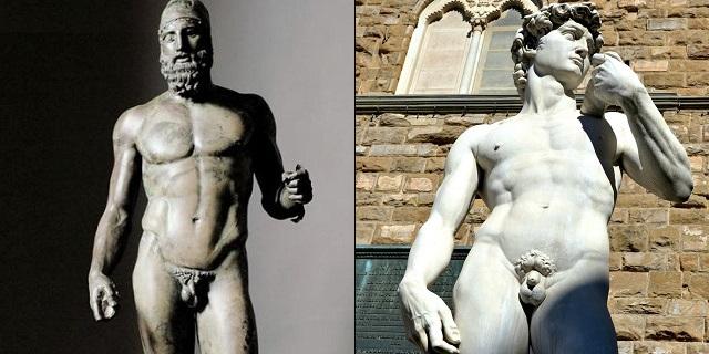 Il pene piccolo del David e delle statue classiche: ecco perché erano così poco dotati