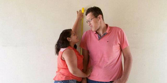 donna bassa uomo alto