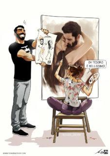 La vita quotidiana di una coppia in 21 illustrazioni