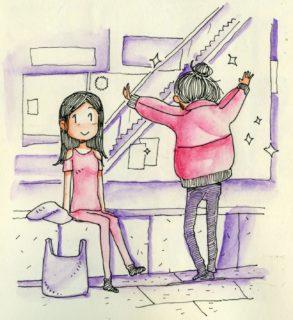 I 30 disegni di Simone che raccontano il primo incontro con il suo amore a distanza