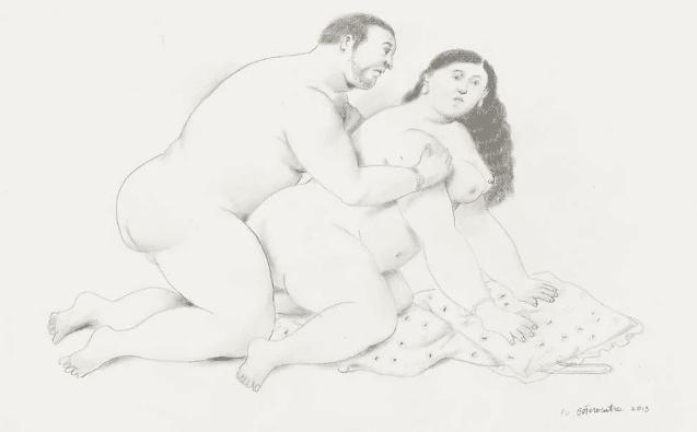 "Kamasutra Boteriano: il kamasutra reinterpretato dalle ""figure grasse"" di Botero"