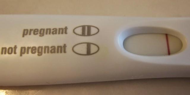 Test di gravidanza negativo