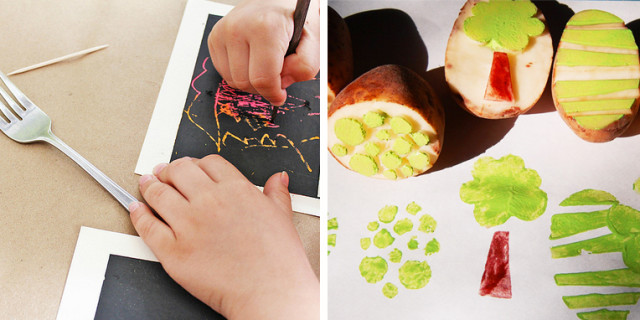 15 tecniche per dipingere con i bambini