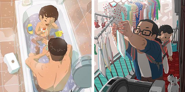 Cosa significa crescere un figlio da papà single in 30 immagini bellissime